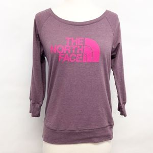 the northface | jersey boat neck top logo shirt S